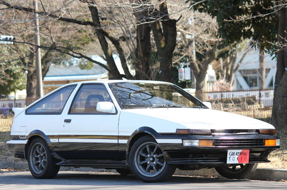 AE86 Trueno car rental is available at Car Rental Tokyo.